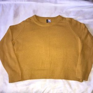 H&M Divided Yellow Long Sleeve Knit Sweater